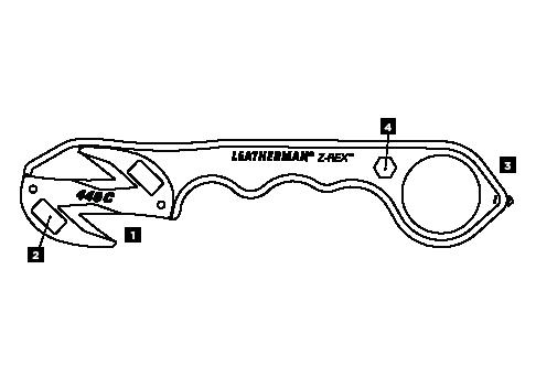 Schéma Leatherman Z-Rex